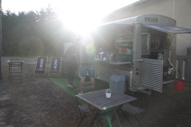 Early morning at the Milk Coffee Co. van