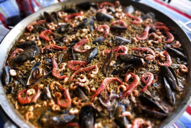 The spectacular paella