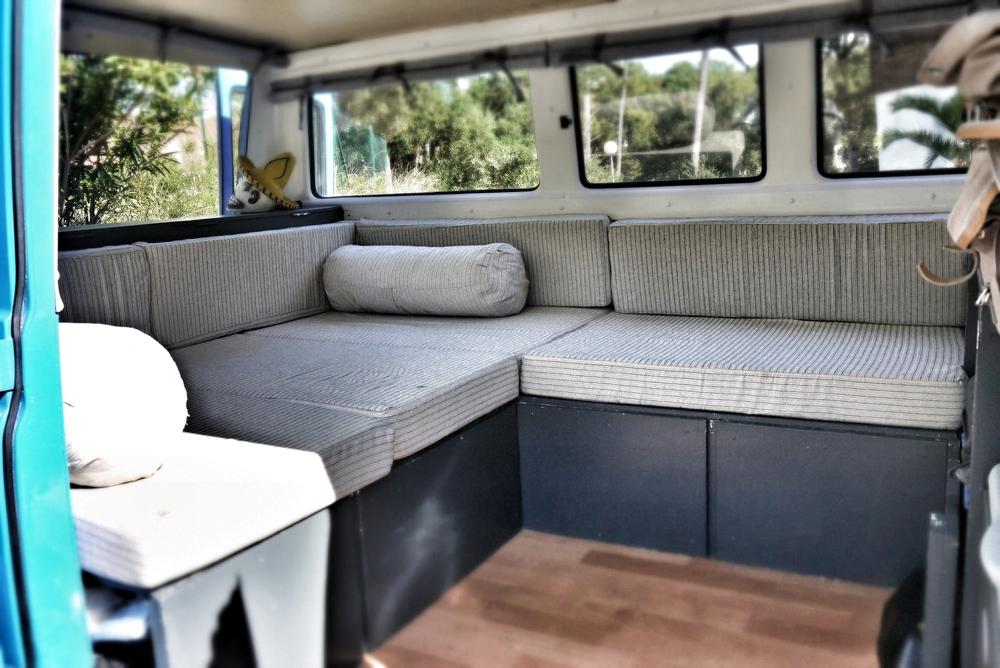 Set up as a sofa