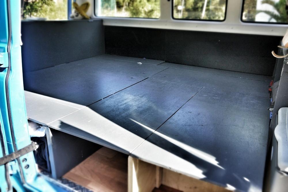 The bed platform