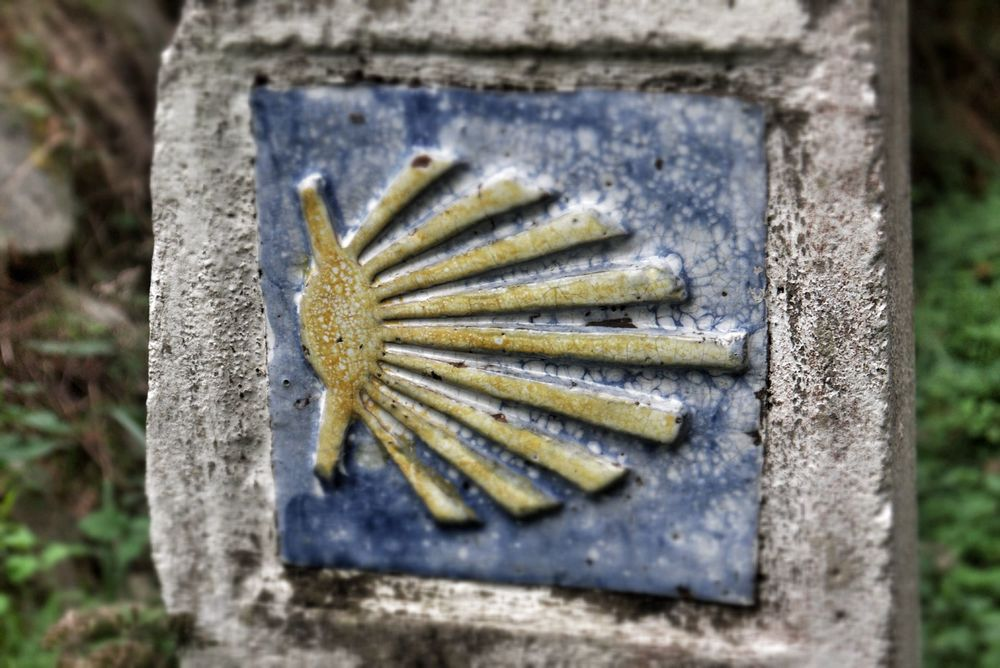 The scallop shell symbol can be found all along the pilgrimage to Santiago de Compostela