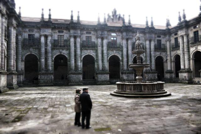 Monastery plaza