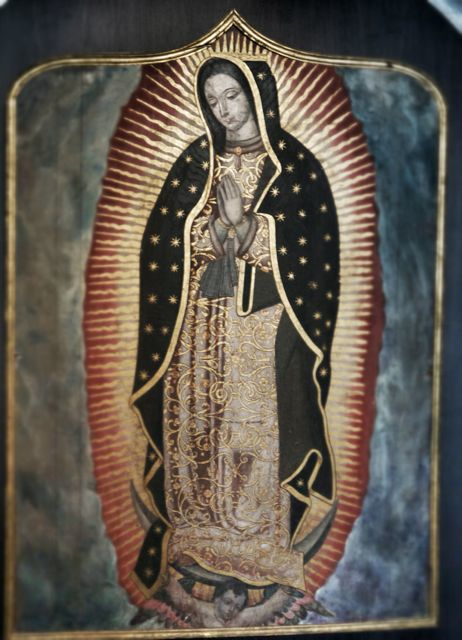 Painting of Mexico's Virgen de Guadalupein the cathedral museum