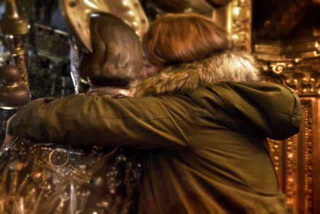 Hugging Saint James