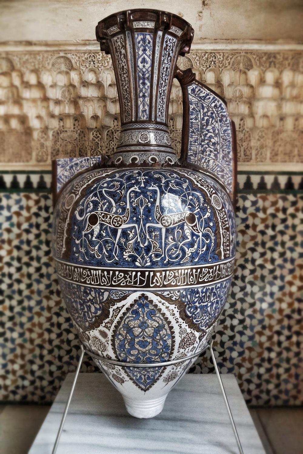 A replica of the famous Gazelle vase