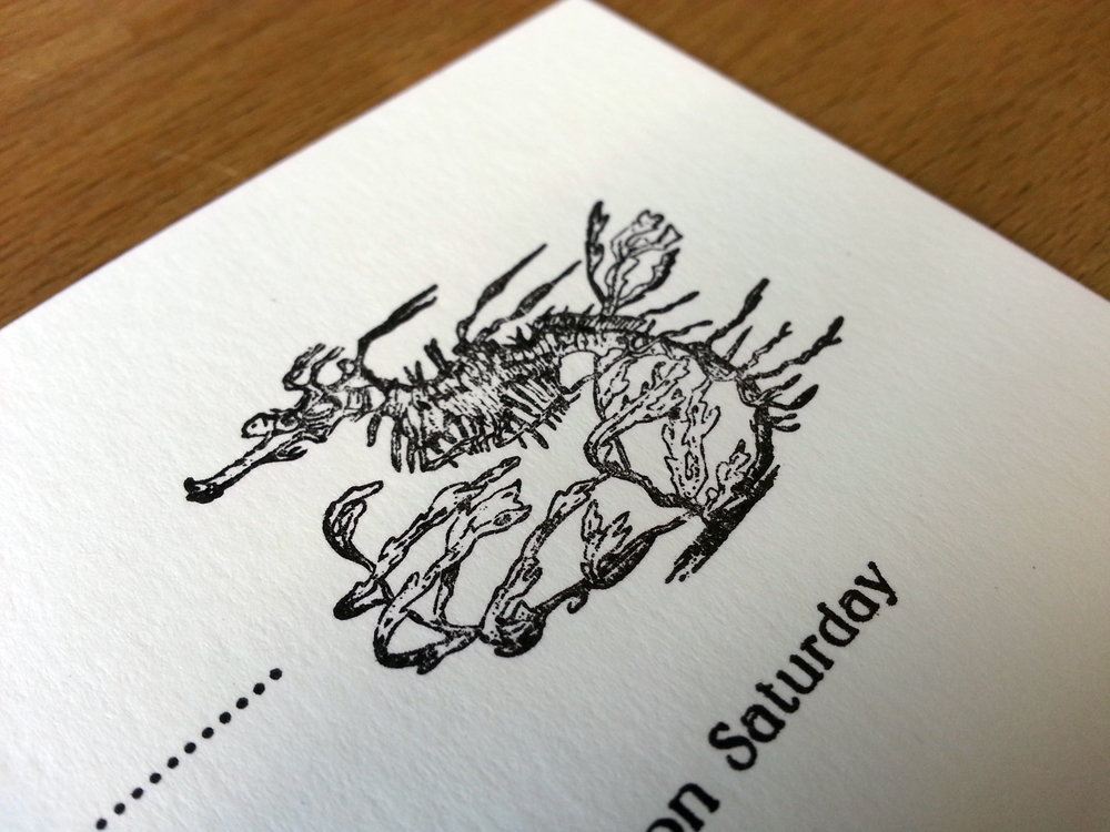 Letterpress RSVP card Wedding Invitation Suite