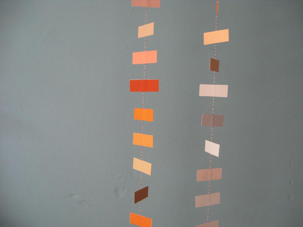 Wolf & Ink DIY Autumn inspiration paint-chip backdrop