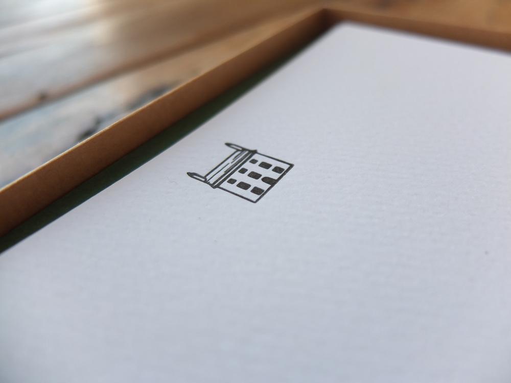 'Home' Headed Letterpress Notecards