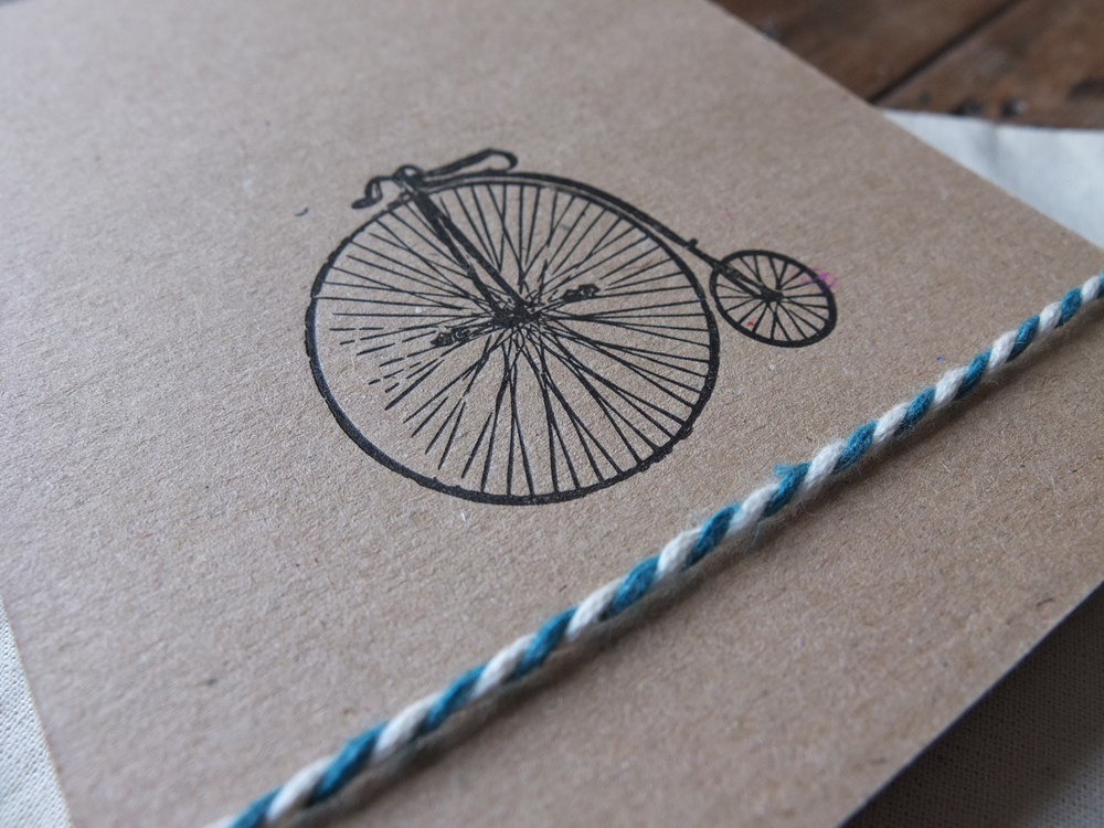 Penny Farthing Letterpress Notepad