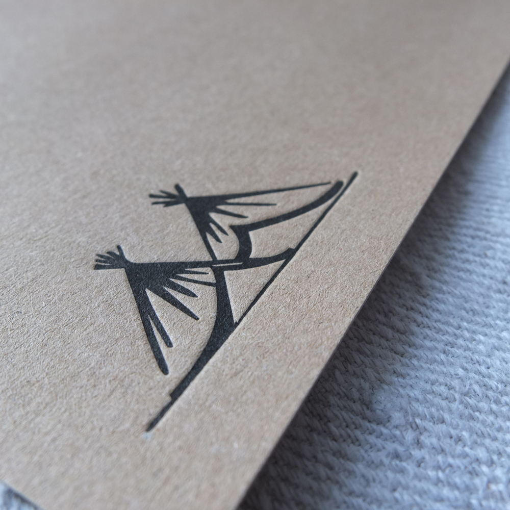Letterpress Notecard Kraft Card