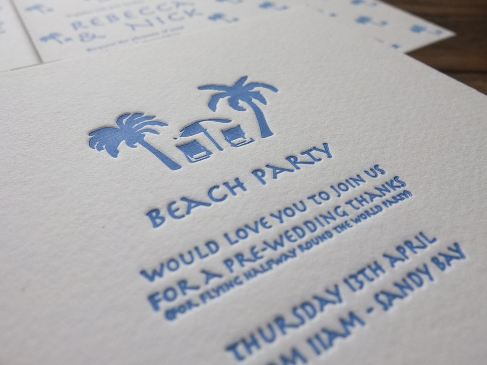 Letterpress Wedding Invitation