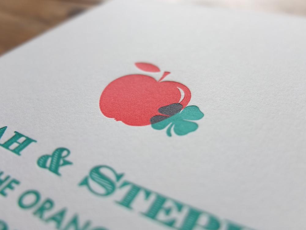 Letterpress wedding Order Of Service