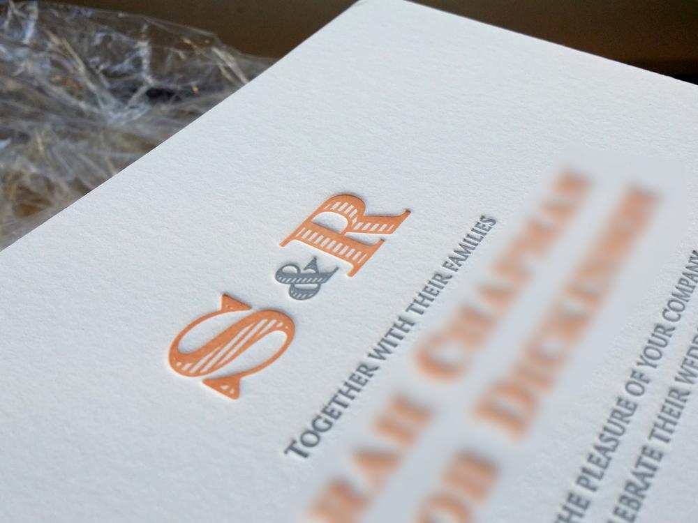 Letterpress wedding invitation two colour.jpg