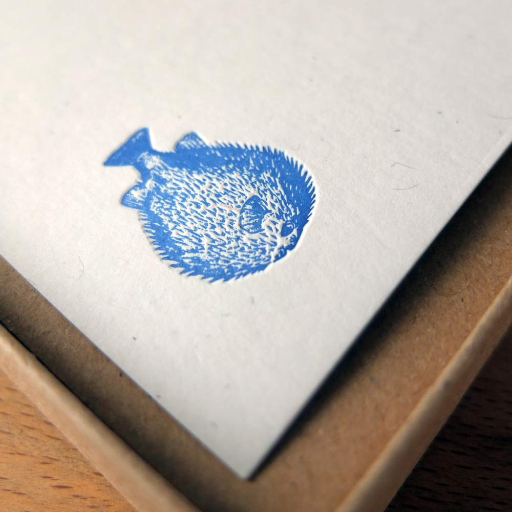 Wolf & Ink_Vintage_Pufferfish Notecards_01.JPG