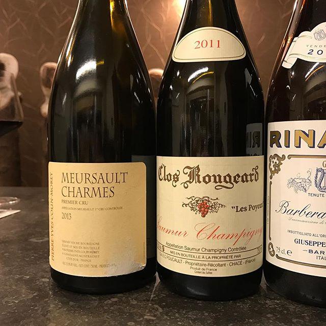 The magnificent three #rinaldi #colinmorey #bourgogne #piemonte #saumurchampigny
