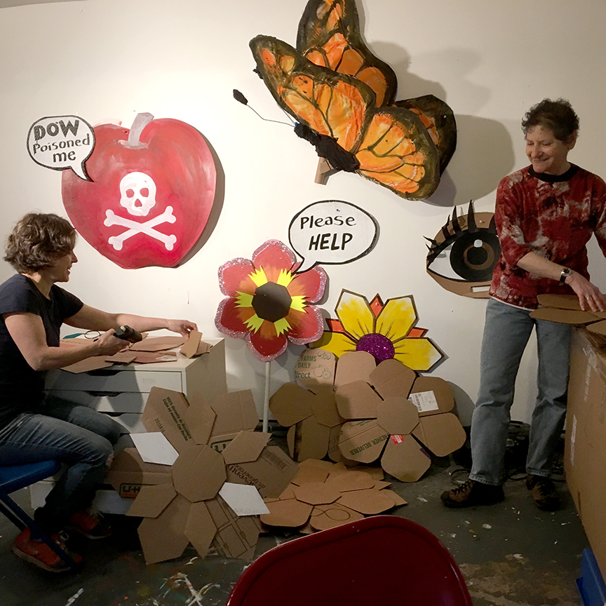 Science & Climate March Flower Art Build
