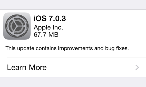 iOS 7.0.3 - Bug fixes