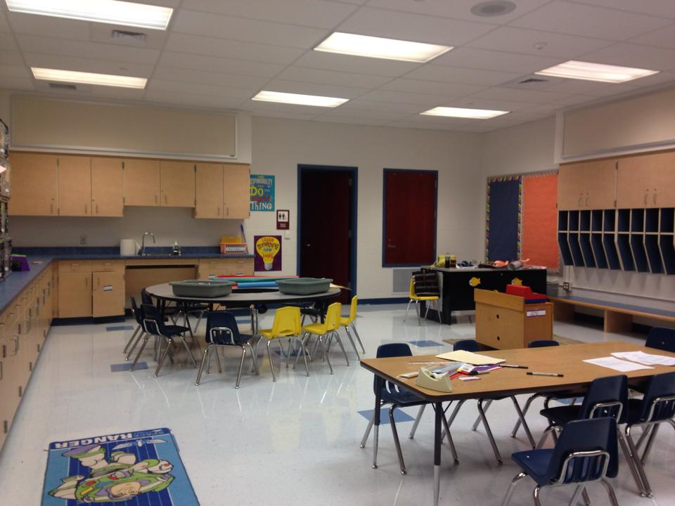 My before and after school classroom at the daycare. (beginning of the year)