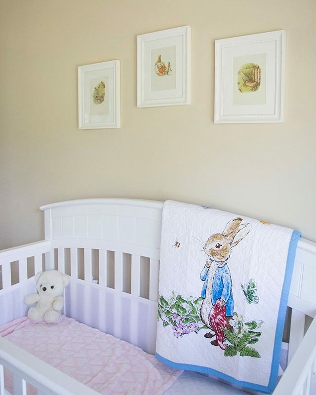 My family and I are currently in the process of moving. Which means I'm looking back on old memories of our time together as a family in our first home together. Check out my daughters Beatrix Potter nursery on the blog! Link in bio!  #nursery #beatrixpotter #peterrabbit