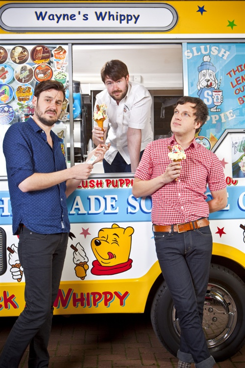 We actually hired a bona fide ice cream van who kept em comin' while we shot. It was ace of course. I'd like to have them on other non-ice cream themed shoots from now on.