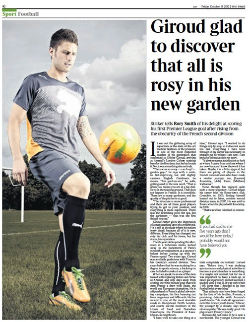 Puma getting some love in The Times today, this main image from our shoot on Hackney Marshes way back in the heady days of summer.