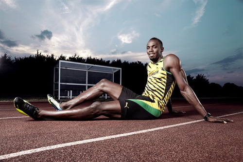 I mean, can you imagine? The phenomenon that is Usain Bolt, at a lovely-looking training ground, at sunset, with the A-Team of lighting dudes, me and my camera bag and (most importantly) a little time to get it right? I KNOW! I shot him previously on set with Virgin Media but this was a privilege to have the guy in his natural habitat at the track. Of course he is a delight, more than happy to do what's necessary to nail our requirements and that is because he is very cool indeed and looks brilliant, at the tiptop of his game. I hope you agree.