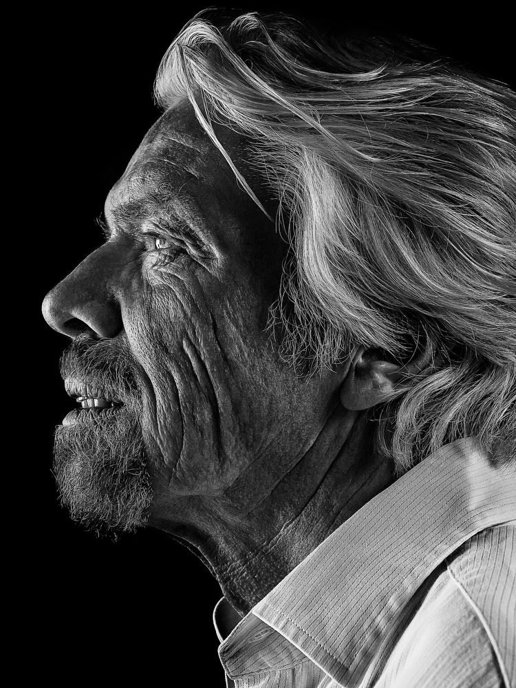 I've photographed Richard Branson many times over the years but never have successfully captured a portrait I was proud of, until I determinedly set up this image and grabbed it in 45 seconds a few months ago, at his house in Oxfordshire. Rejected for the Taylor Wessing alas but embraced by Portrait Salon, I'm really proud to be part of the show and am happy with nailing a shot I wanted to capture a long time ago.