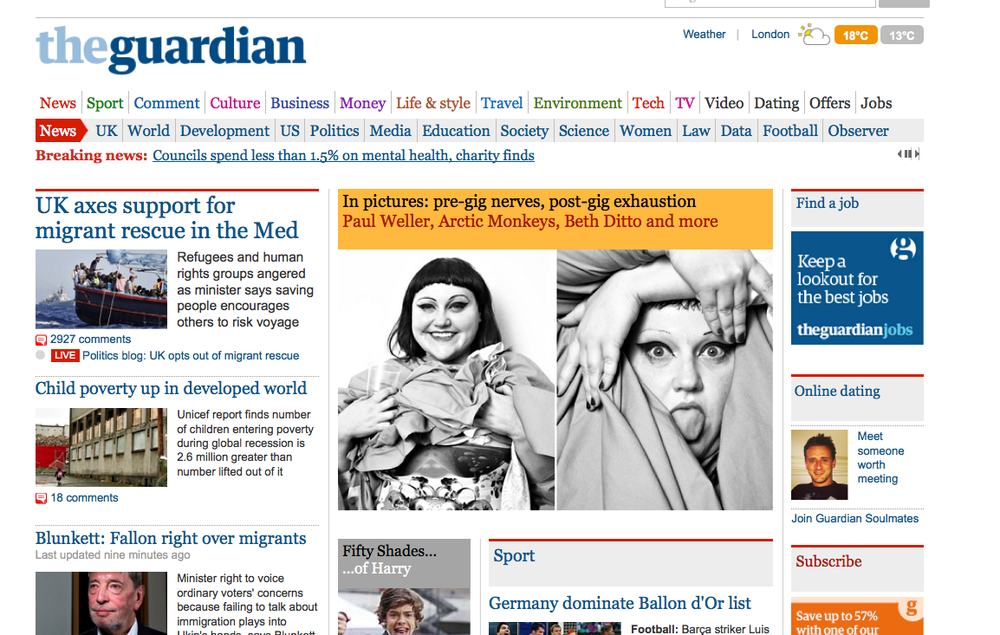 Home page of the Guardian? NME.com? Kerrang? Shortlist? Yeah ok. Plus Metro, The Sun, Star, all sorts. The press team at Dawbell properly took this on and delivered BIG. Full respect for their efforts, the On/Off project has launched finally and Pledgers are pledging. Need more of course but we will get there, I have belief. Thank you if you've chipped in for War Child, it means a huge amount to me and of course the rehabilitation of children in war torn countries. Here's the link, go on, nab a book or a print.
