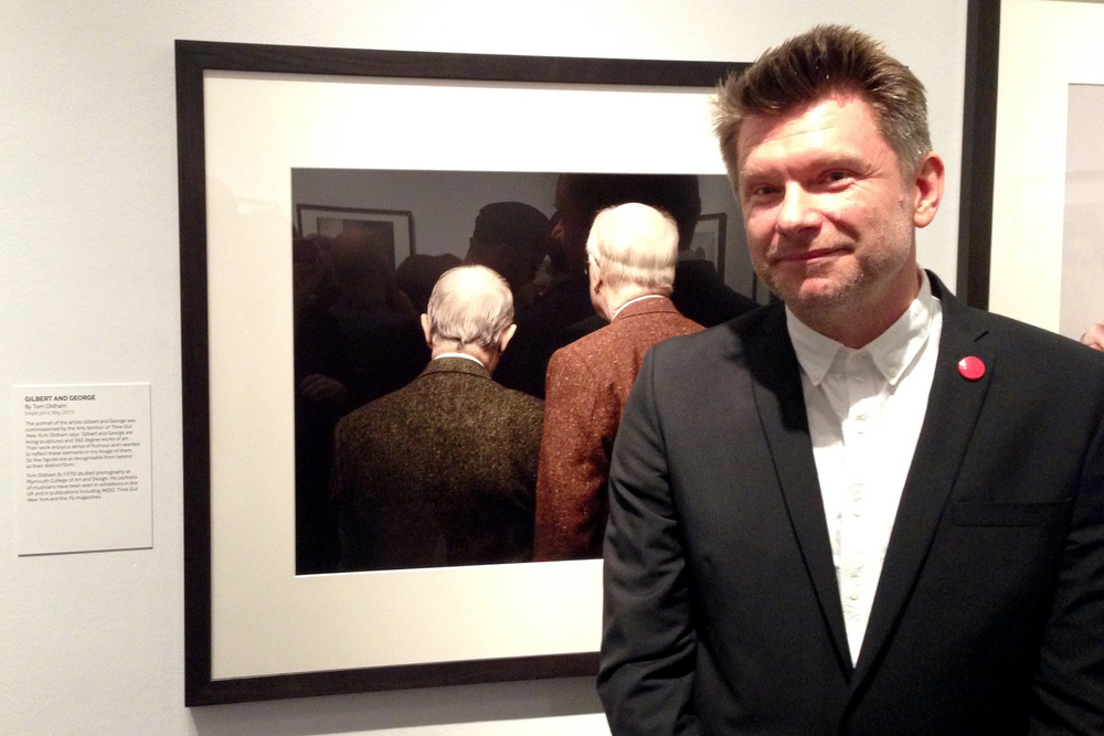 After so many years of trying, my work is at last hanging in the National Portrait Gallery as part of the Taylor Wessing Portrait Prize. I could weep. This is a picture of me (thanks Brian Whar) at the Private View last week, feeling pretty happy. And relieved actually - I was beginning to seriously question how I could call myself a portrait photographer yet not get amongst the annual best 60 portraits once again - then you get the email and everything is ok. The experience has been absolutely top notch as well, the print has a great position in the show, it was used on the private and press viewing invite, is a postcard for sale in the shop and the gallery is using it in their mail outs, as well as this gem in the  Telegraph Arts section  which was the icing on the cake (read to the last paragraph if you have nothing at all to do just now). Huge thanks to Brian Whar,  Richard Chan printers , Gilbert and George, and Hope and Sally Anne for coming down. You're ace and I love you.