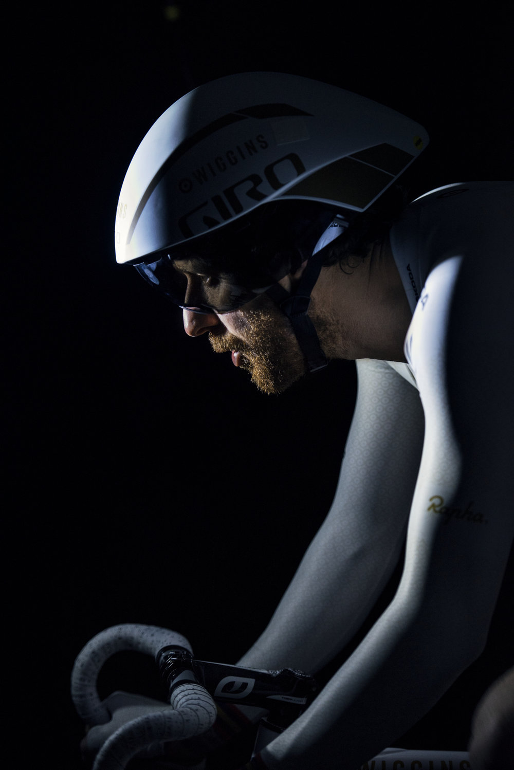 Sir Bradley, aka Wiggo, in the hot seat for Skoda. Exciting to look down the barrel and see this legend training I have to say. I love this shot, for me the best imagery always lingers in the lulls between the main moments - that's where sports photography lives for me. Shot on Hasselblad H6D on a 50mm lens.