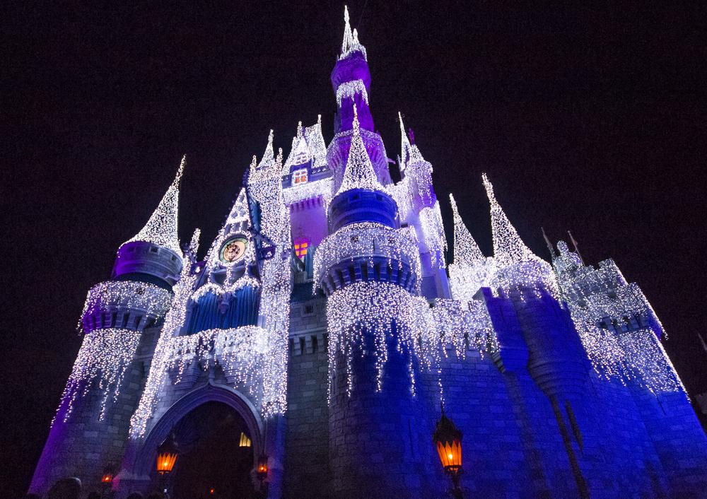The Frozen-themed castle.