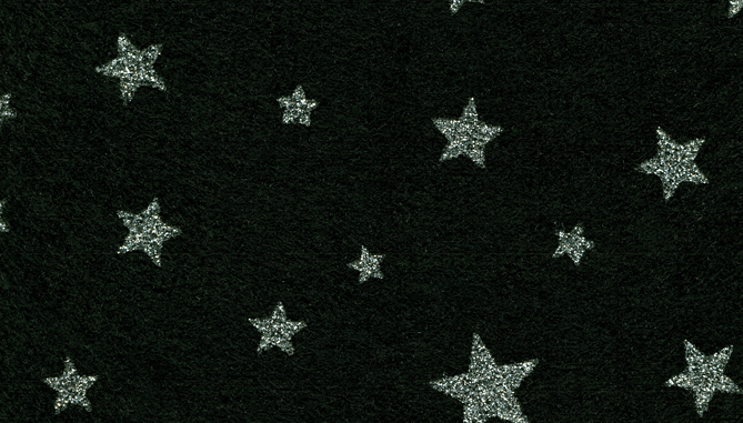 44T261 - Black with Silver Stars