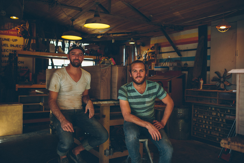 2013. Ben & Rob at Fin Art's first studio. Image by Shaun Boyte.