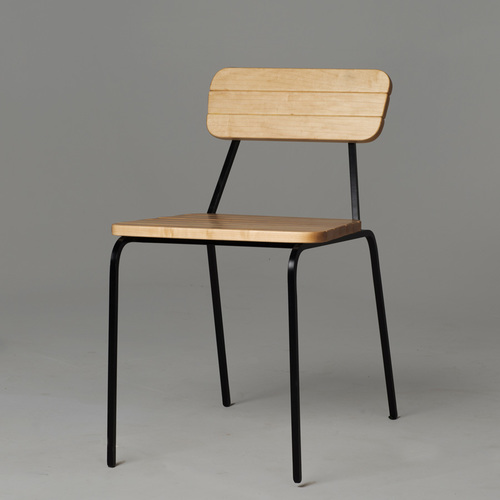 fausto cafe chair maple fin art co