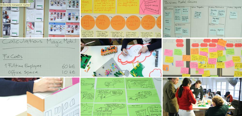 Business Prototypen sind visualisierte Konzepte und Modelle, die Geschäftsideen (be-)greifbar, erlebbar und kommunizierbar machen.