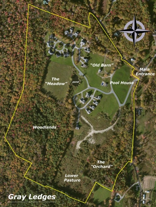 Gray Ledges, condominium site plan located in Grantham NH