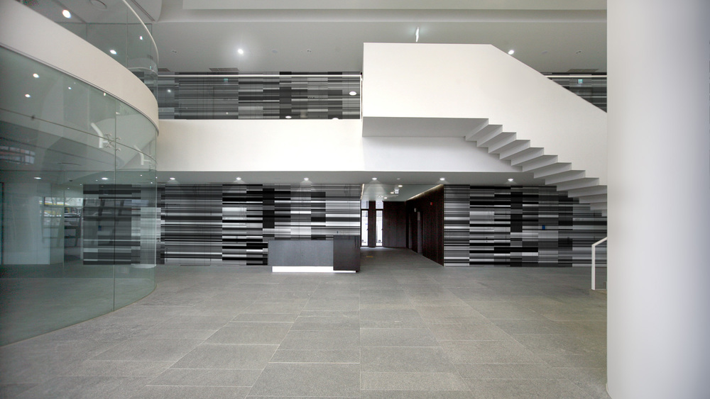twin tree building lobby remodelling