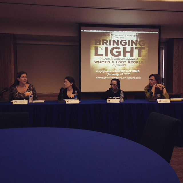 First panel of the symposium, focused on reproductive justice in the prison system #bringingtolight