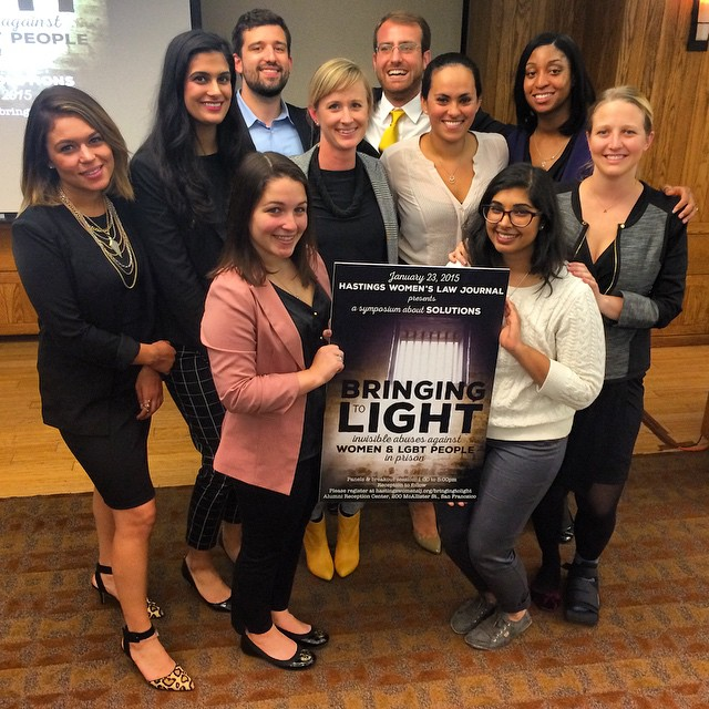 Thanks to all of our amazing staff for keeping our symposium afloat today. What a great success! Inspiring speakers joined us at @uchastingslaw to discuss real issues facing #women & #transgender people in #prison - and solutions! Check hastingswomenslj.org/bringingtolight soon for video and supplemental materials.