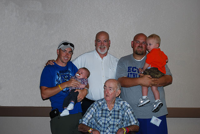 My Father, Pampaw, Brother, Nephew, Son, & Me!
