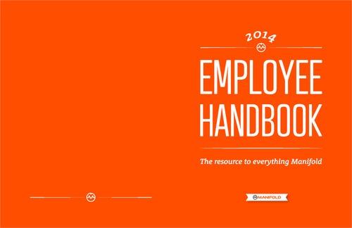 employee handbook cover design template - queenofinfographics