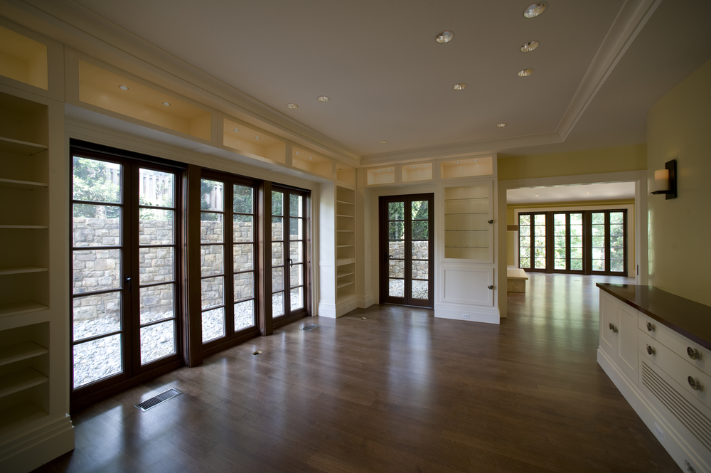 Mulled French Doors, Mahogany with Bullet Resistant Glass