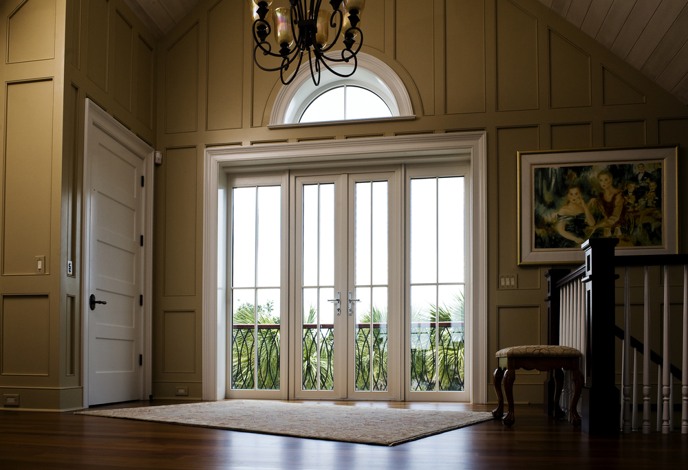 French Door with Sidelights and Transom