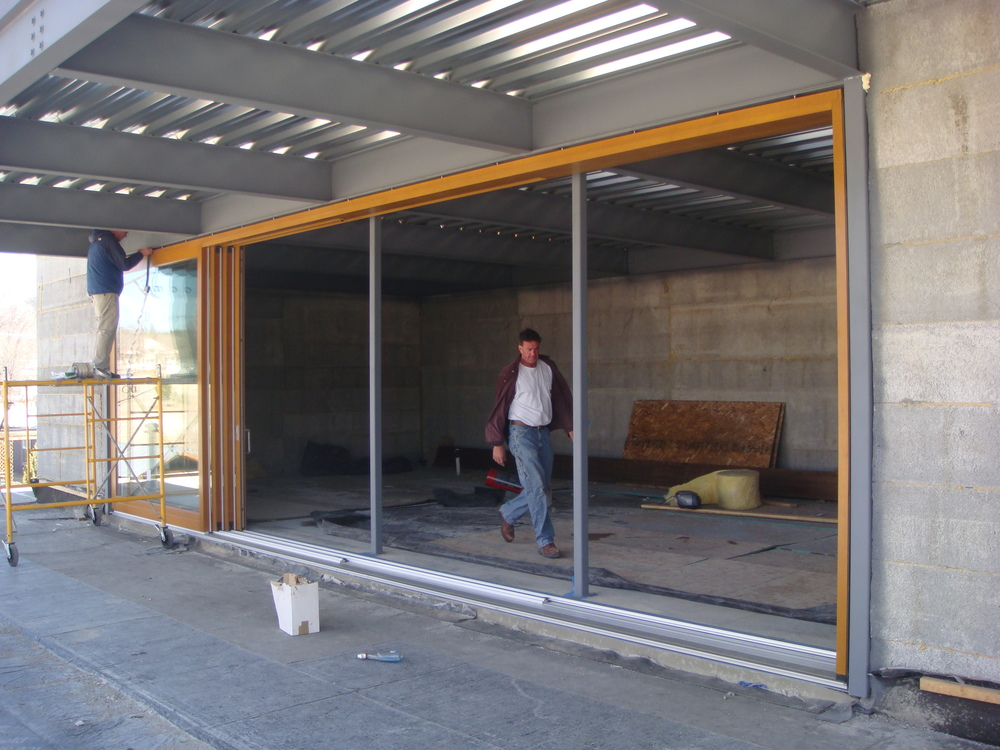 32 foot long, ten foot tall Lift and Slide Door