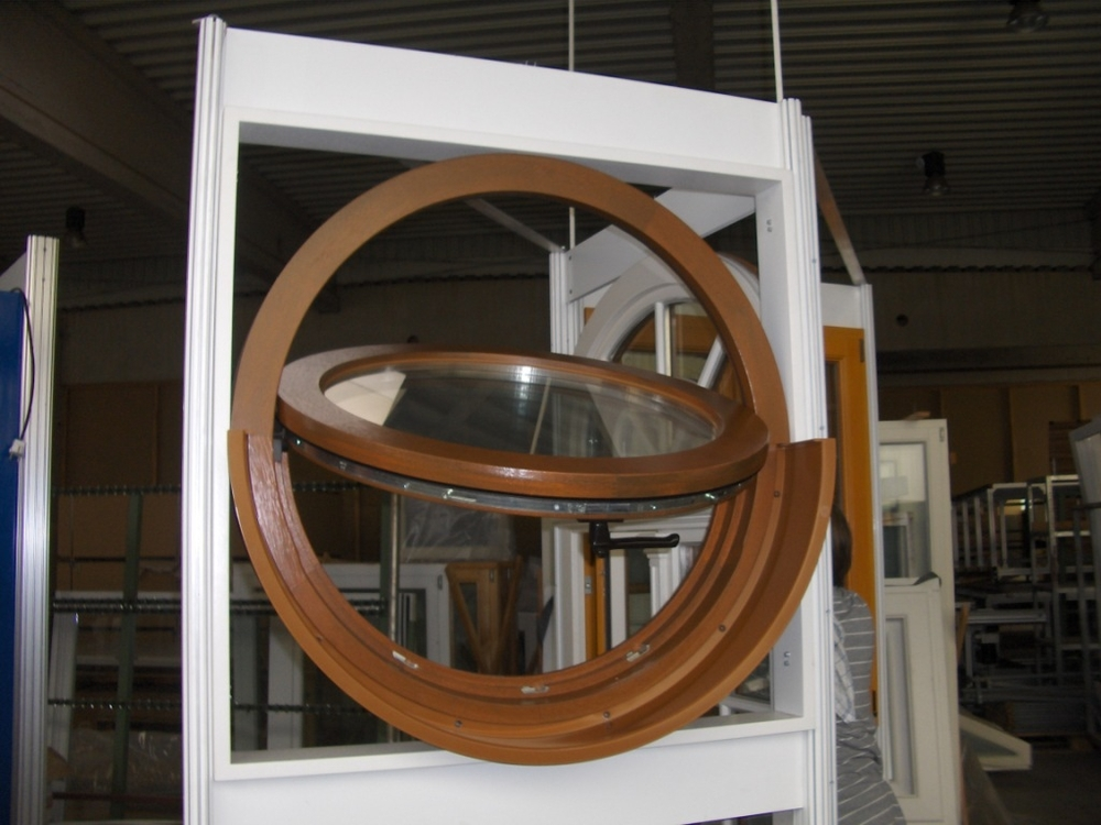 Operable Circular Hardwood Window