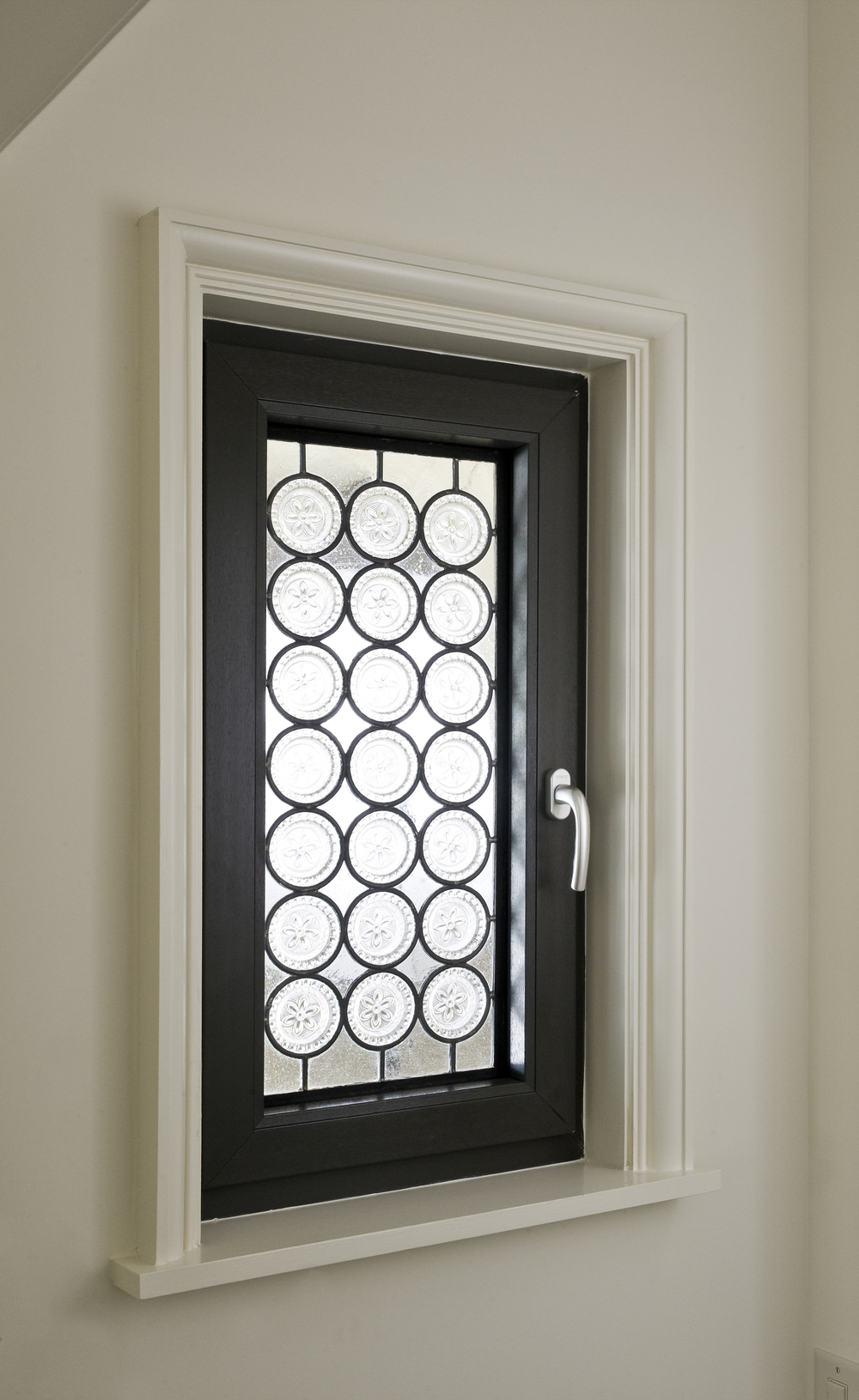 Vinyl Window with Art Glass