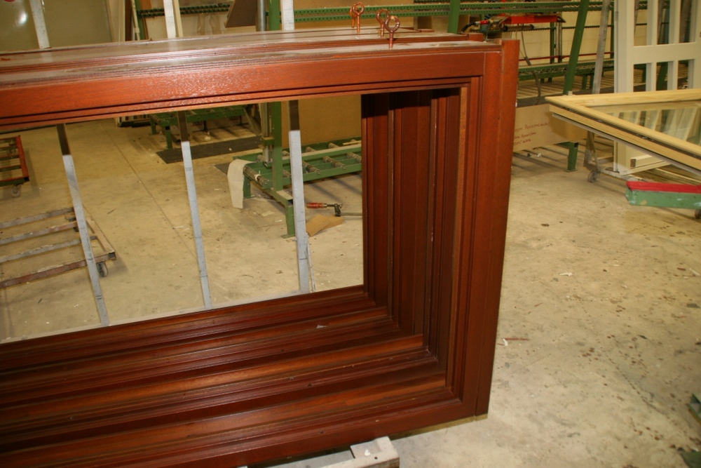 Factory Finished Mahogany Windows