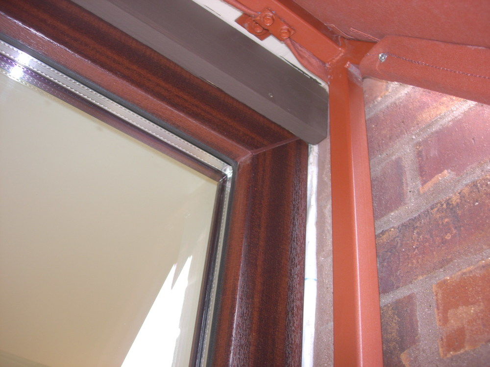 Mahogany finish UPVC Wood Grain Lamination