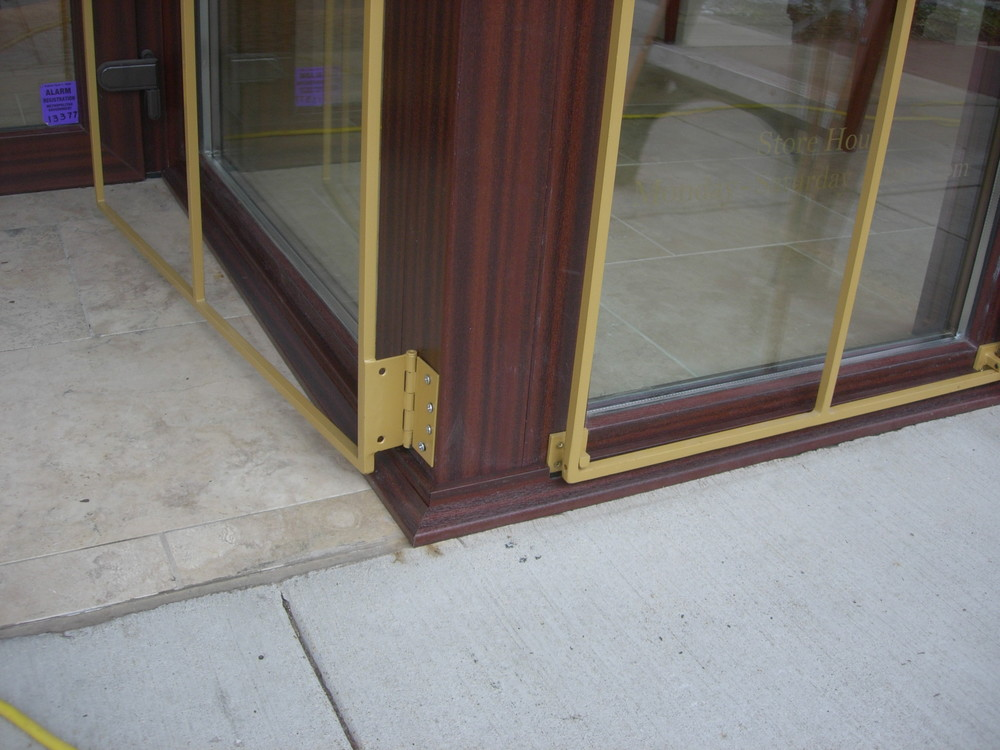 Wood Grain Laminated UPVC Trim, Mahogany Finish