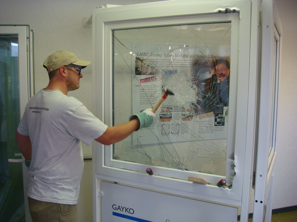 Laminated security glass